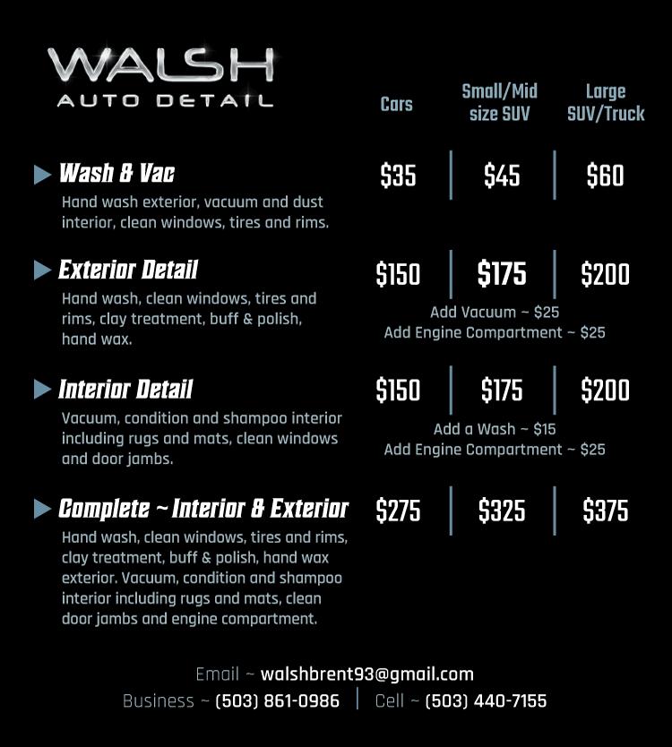 Interior Car Wash Price